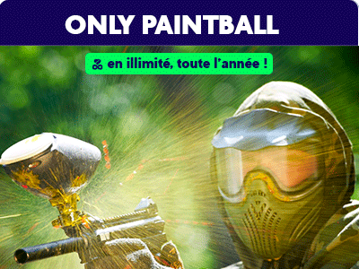 20% de réduction chez Only Paintball avec la carte Dino