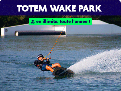 50% de réduction chez totem Wake park c la carte Dino